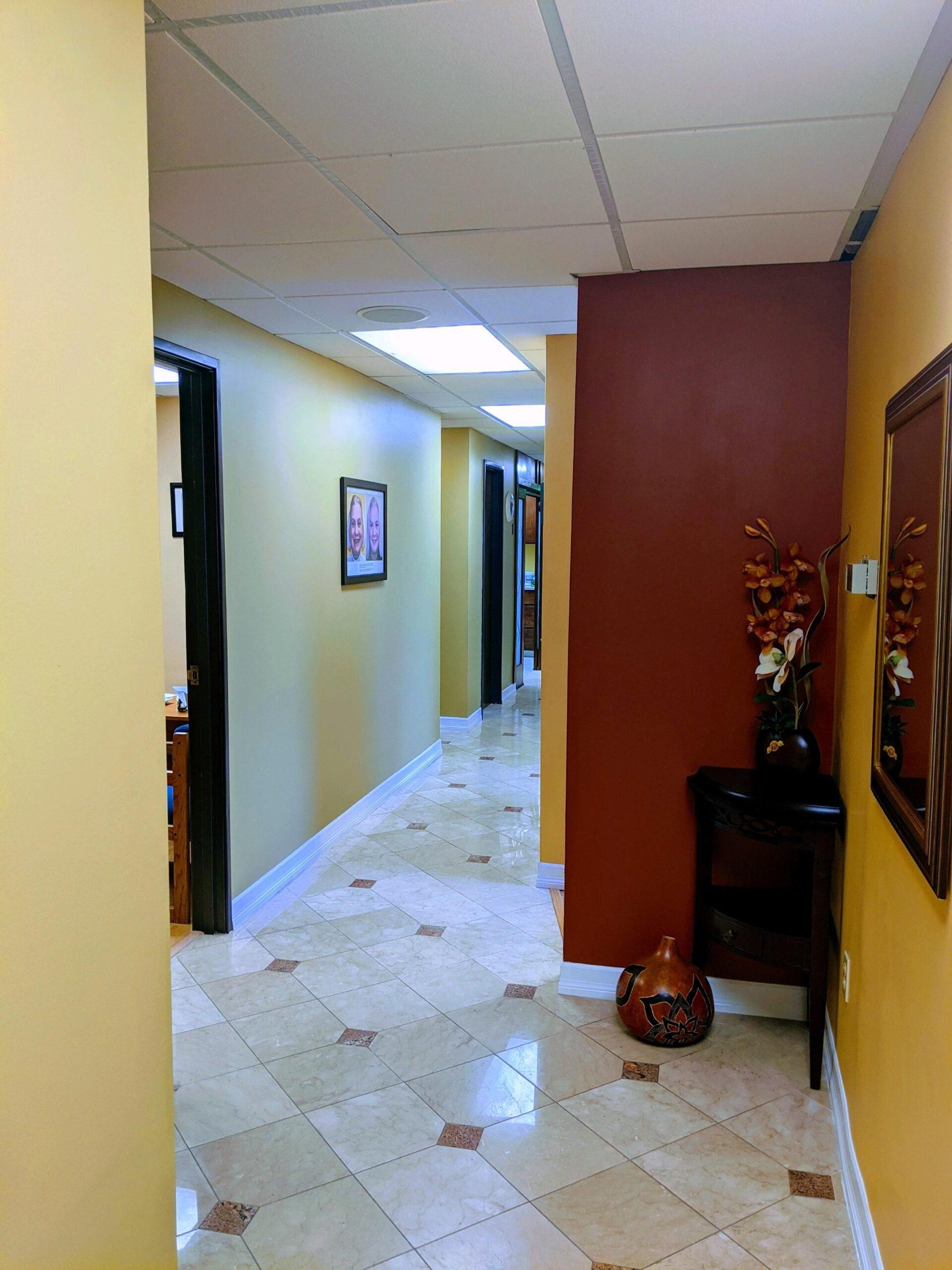 one stop dentistry hallway
