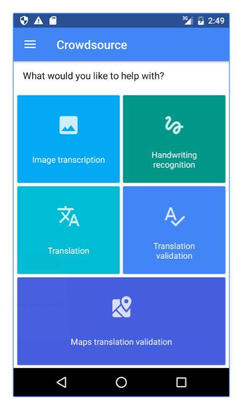 New Google app seeks help with translation and image transcription