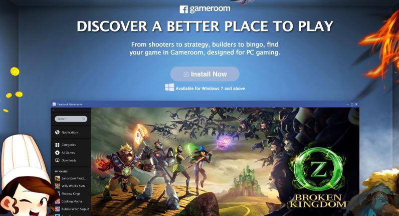 Facebook announces PC gaming platform Gameroom