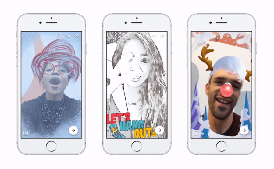 Facebook's Messenger camera gets attractive 3D special effects