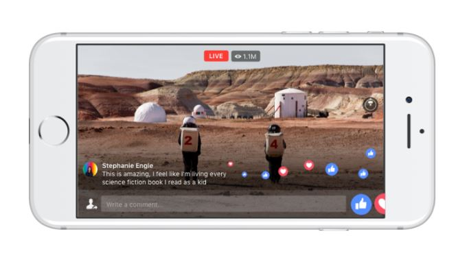 Facebook brings 360-video experience to live streaming