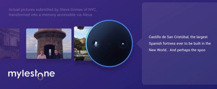 Mylestone for Amazon Alexa can make a story based on your photos