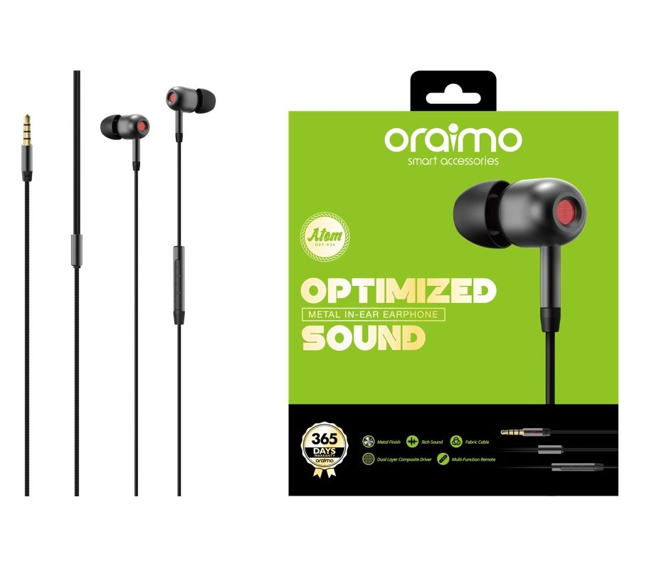 headset oraimo OEP-E36 dark chrome
