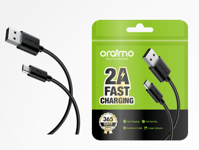 USB cable oraimo CD 52BR 5pin 2A 1m black
