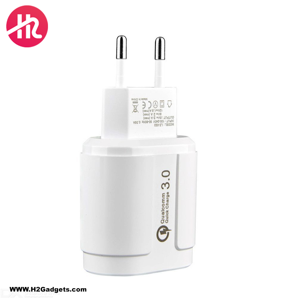 H2 Gadgets QC 3.0 Charger H2-CH-01 + TPC Cable