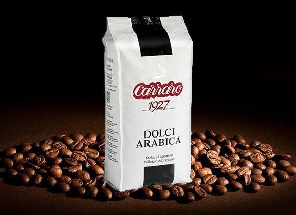 Carraro Caffe Espresso Dolci Arabica Whole Beans 1000 G