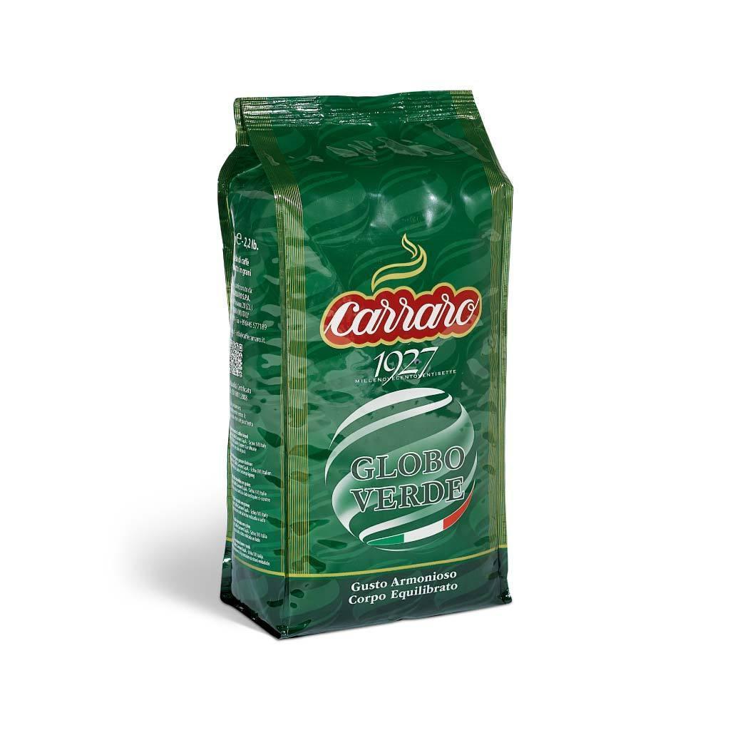 Carraro Caffe Espresso GLOBO VERDE Whole Beans 1000 G