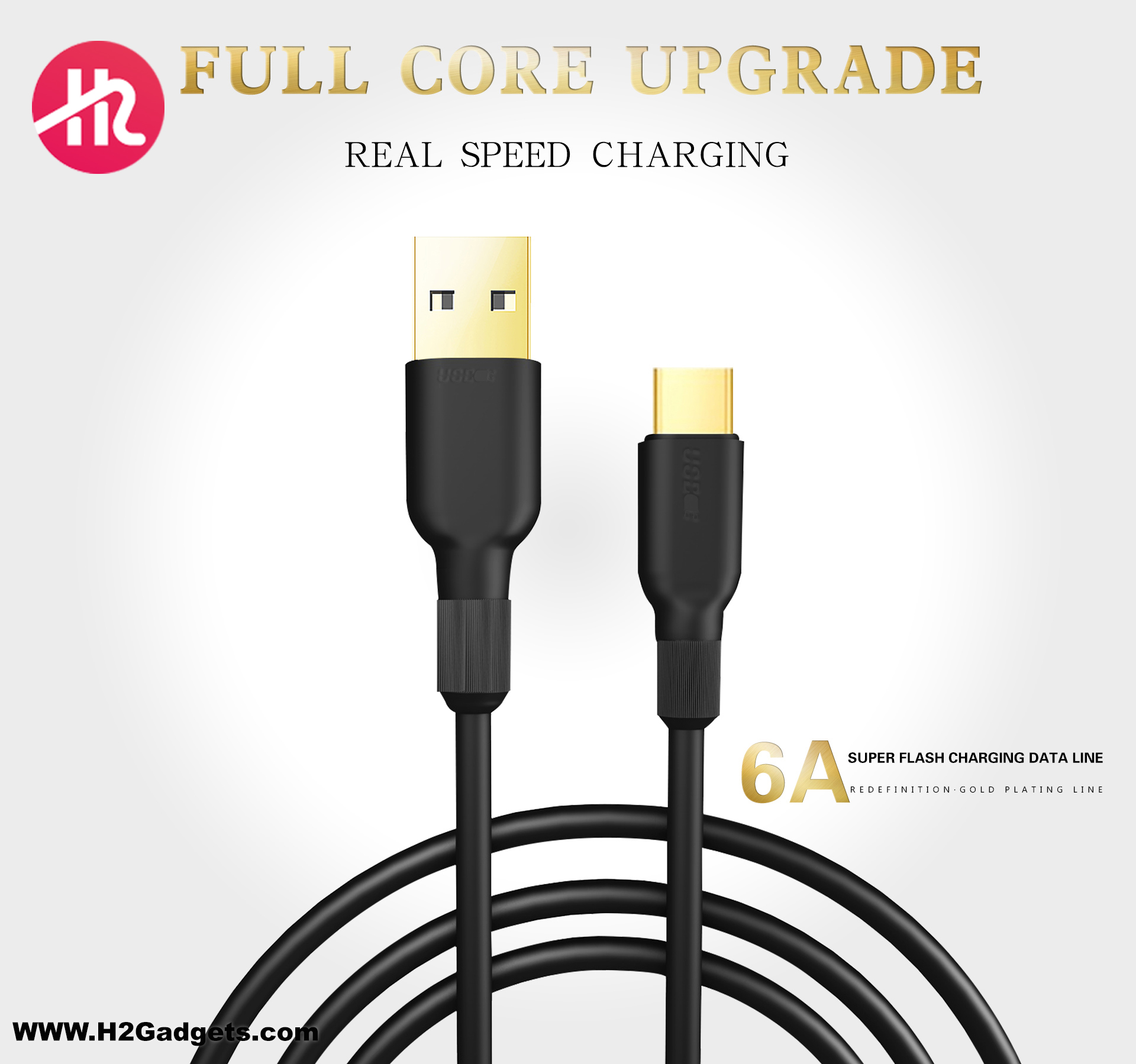 H2 Gadgets 6A Type C Cable CA-02
