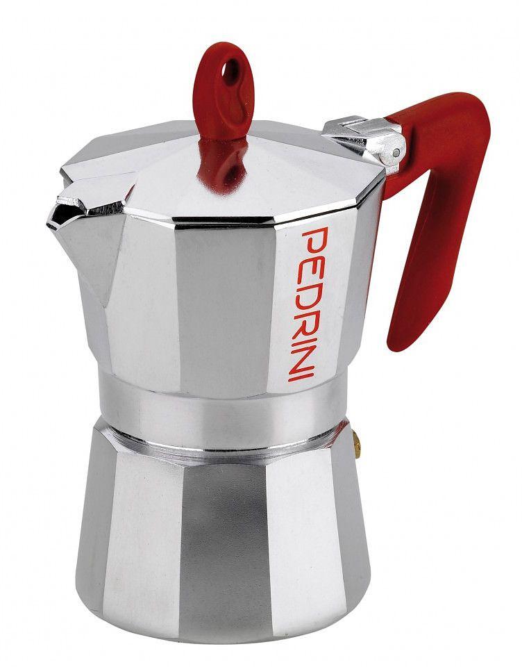 Pedrini Espresso Moka Pot 6 Cup 300 ml Aluminum