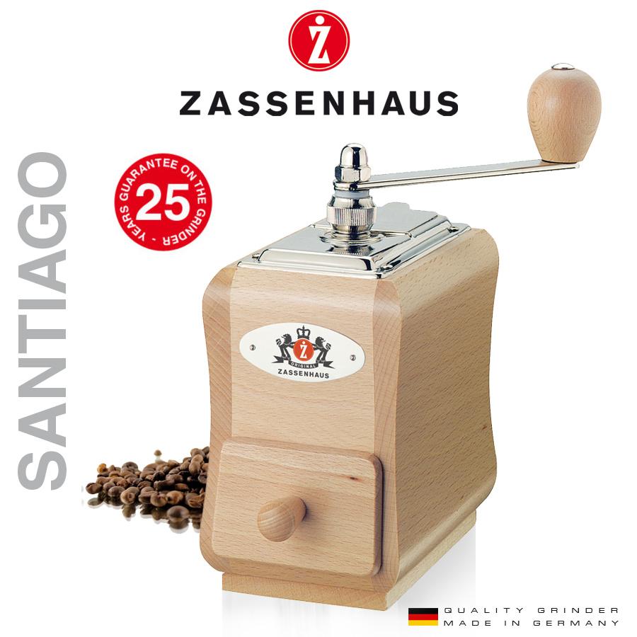 Zassenhaus Coffee Grinder Santiago Natural Oak