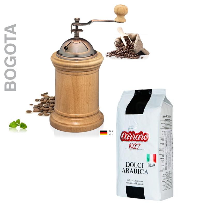 Zassenhaus Coffee grinder Bogota, Carraro Dolci Arabica Beans 1000 G