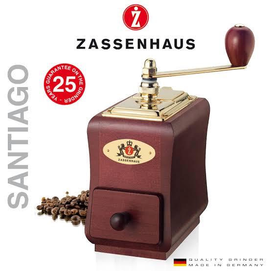 Zassenhaus Coffee Grinder Santiago mahogany stained