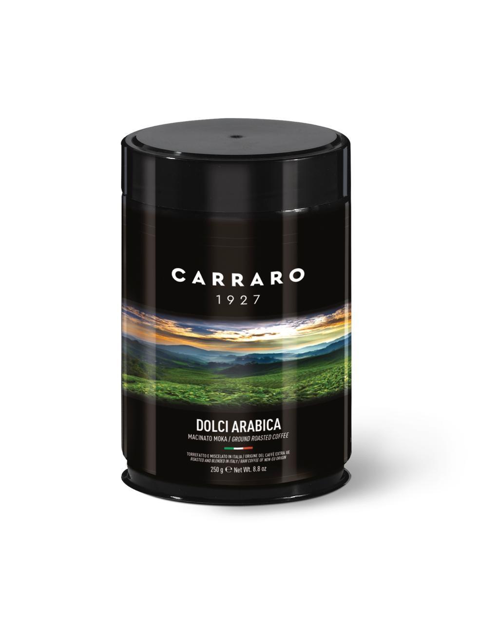 Carraro 250G Dolci Arabica Specialty ground coffee