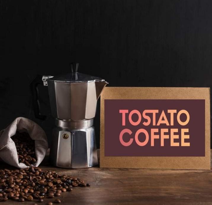 Tostato italian coffee 100ml + moka-pot pedrini 6 cup aluminum