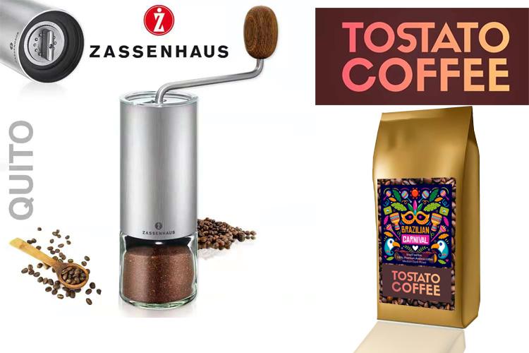Zassenhaus Coffee grinder quito + Tostato Coffee 100G