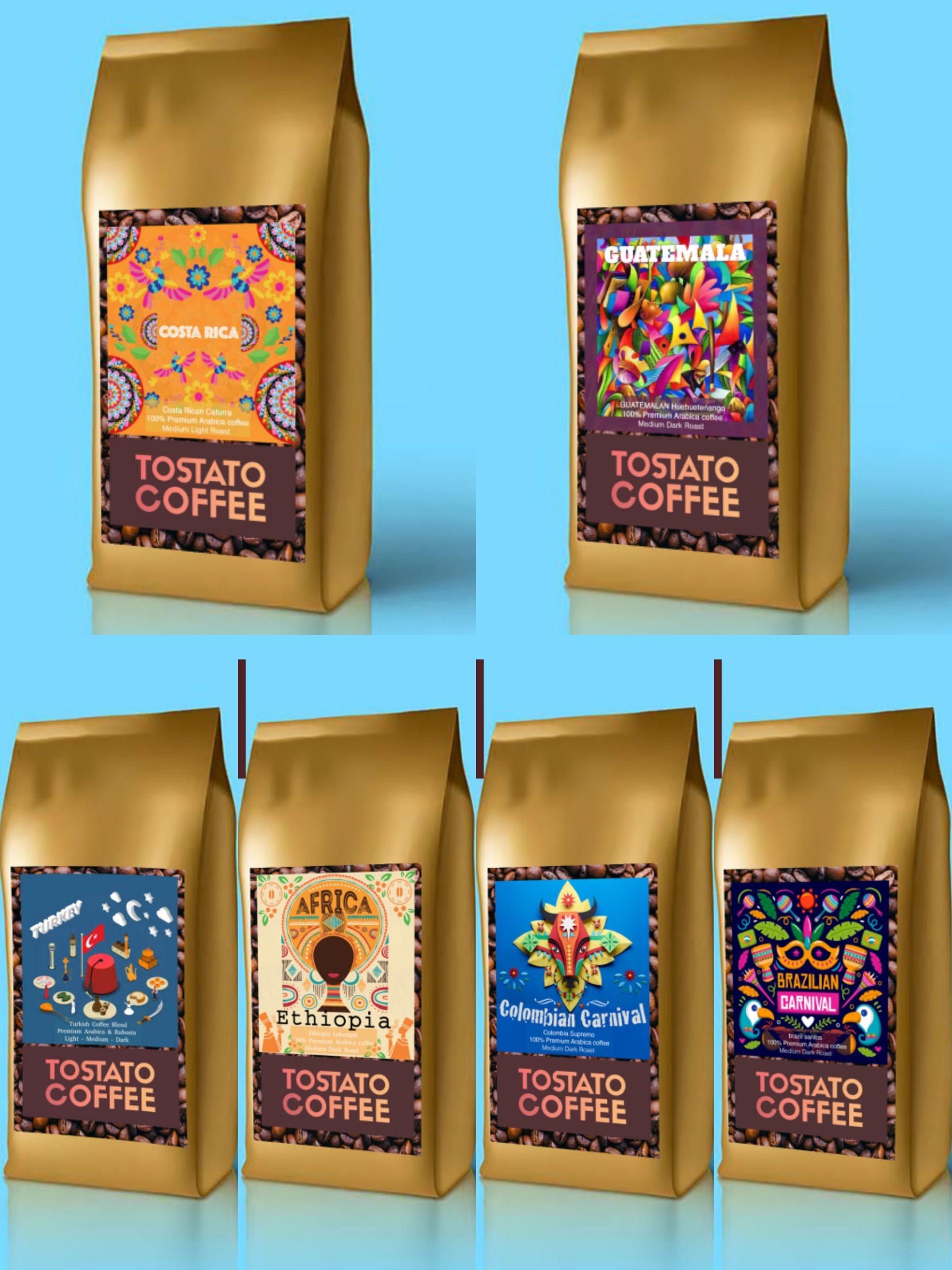 Tostato Coffee premium pack 125GX6