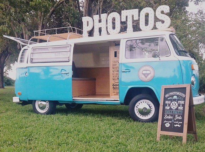 Miami's first vintage Photo Booth Bus