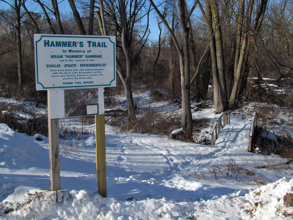 Assembly Creek & Springs 1-2-14 trailhead & sign
