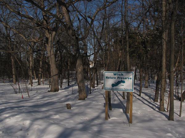 Wick Nature Preserve1 - sign 2-25-10