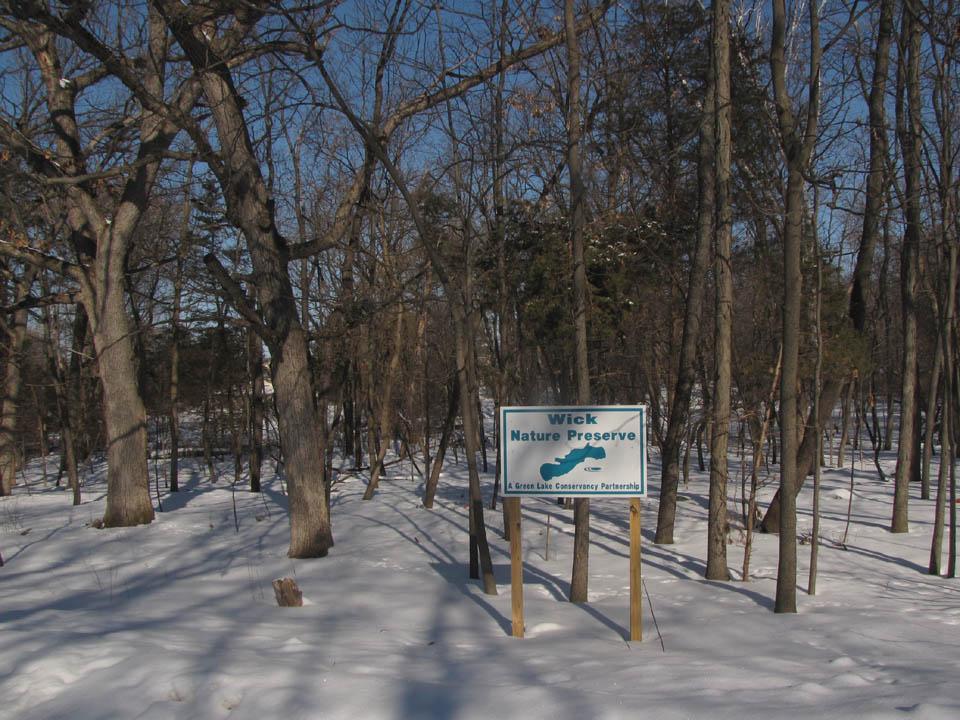 Wick Nature Preserve1 sign 2-25-10
