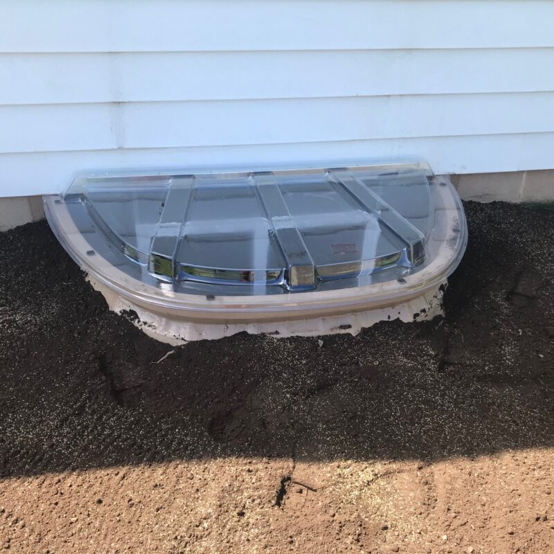 DuraWell Egress Window Well Install with Cover