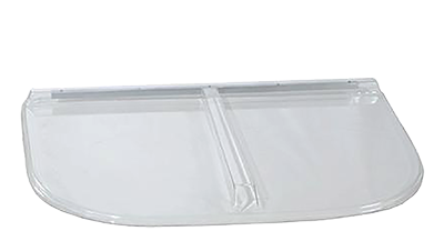 Shape Products Premium Heavy-Arched Flat Polycarbonate Window Well Cover