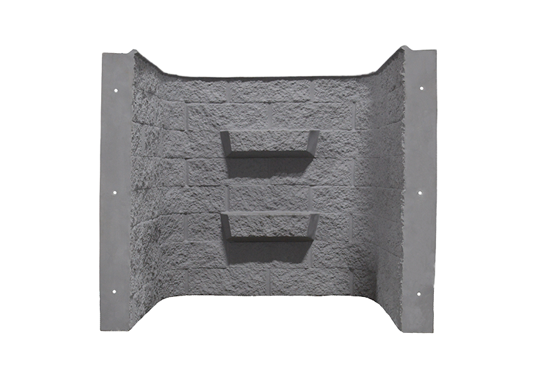 Shape Products 4 ft tall block-tex egress window well in color slate by shape products