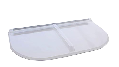 Shape Products Premium U-Shaped Flat Polycarbonate Window Well Cover