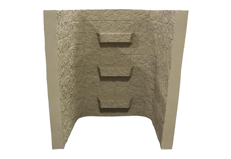 Shape Products 5 ft tall block-tex egress window well in color sandstone by shape products