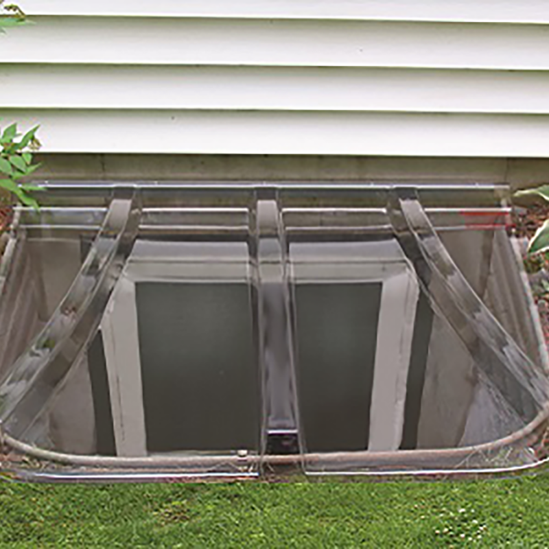 Shape Products Universal Window Well Cover Installed on a Basement Egress Window
