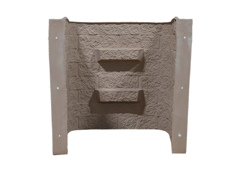 Shape Products 4 ft tall block-tex egress window well in color sandstone by shape products