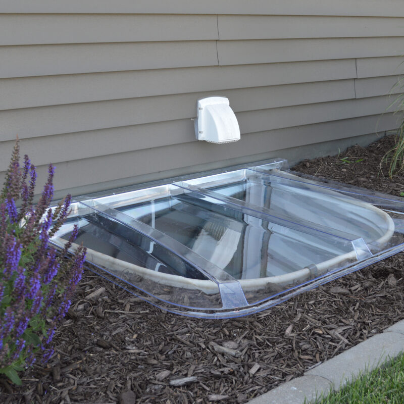 Universal Window Well Cover Installed