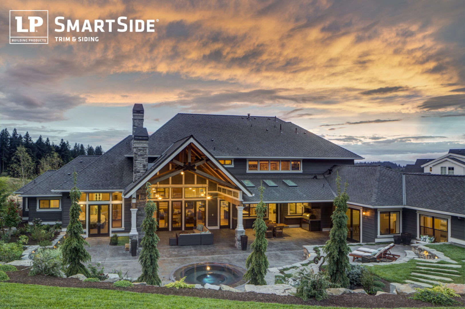 LP_Assets_HighRes High res - two-story large grey house at sunset - DOWNLOAD OR SHARE