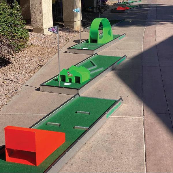 obstacles portable mini golf mobile putt putt 101