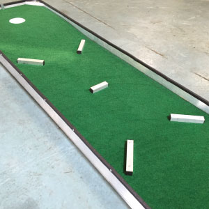 built in obstacles portable mini golf course mobile putt putt