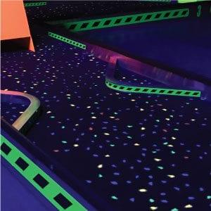 glow carpet blacklight glow mini golf course portable mobile putt putt