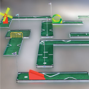 classic 9 hole portable mini golf course mobile miniature putt putt 3000