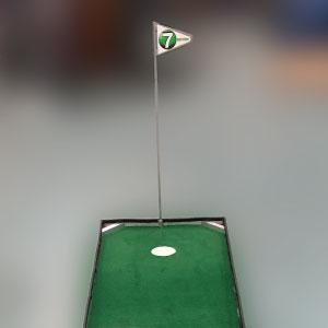 flag portable mini golf course mobile putt putt 3