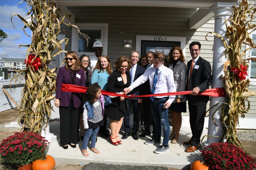Ribbon cutting for High Meadow Townhomes in Bourne