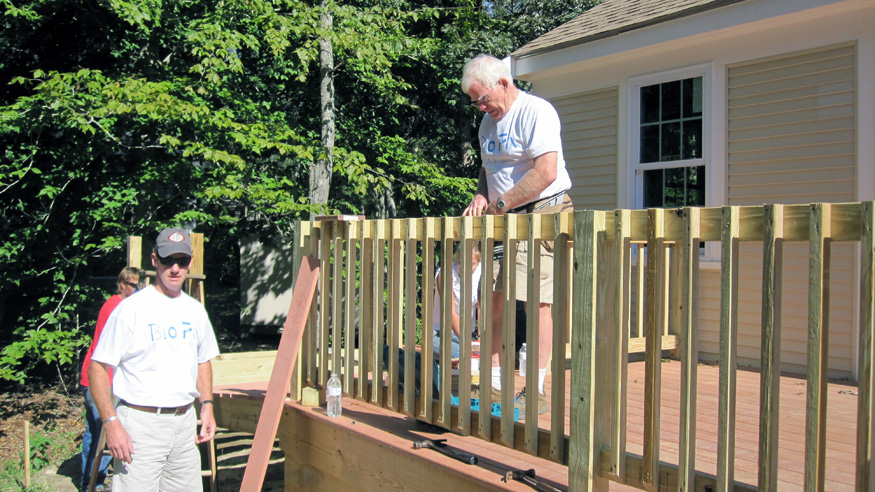 Rich Bryant at Housing Assistance's Big Fix in Sandwich in 2014.