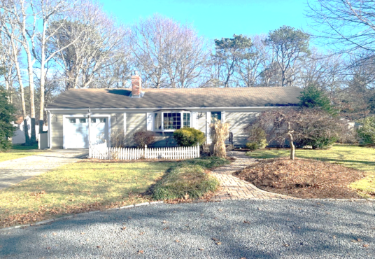 Exterior of Quartermaster Road home in South Yarmouth