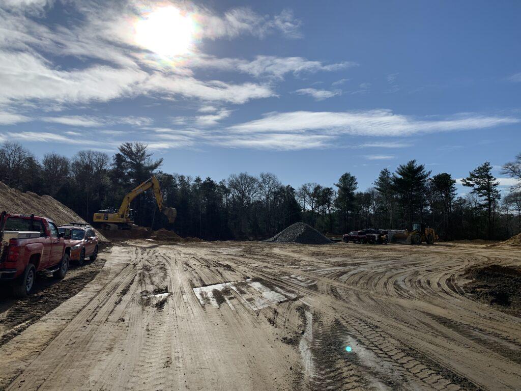 Infrastructure work at Brewster Woods