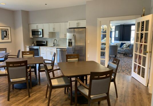 Common kitchen area in Brewster apartment