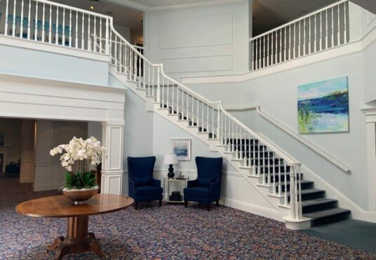 Lobby to Brewster apartment