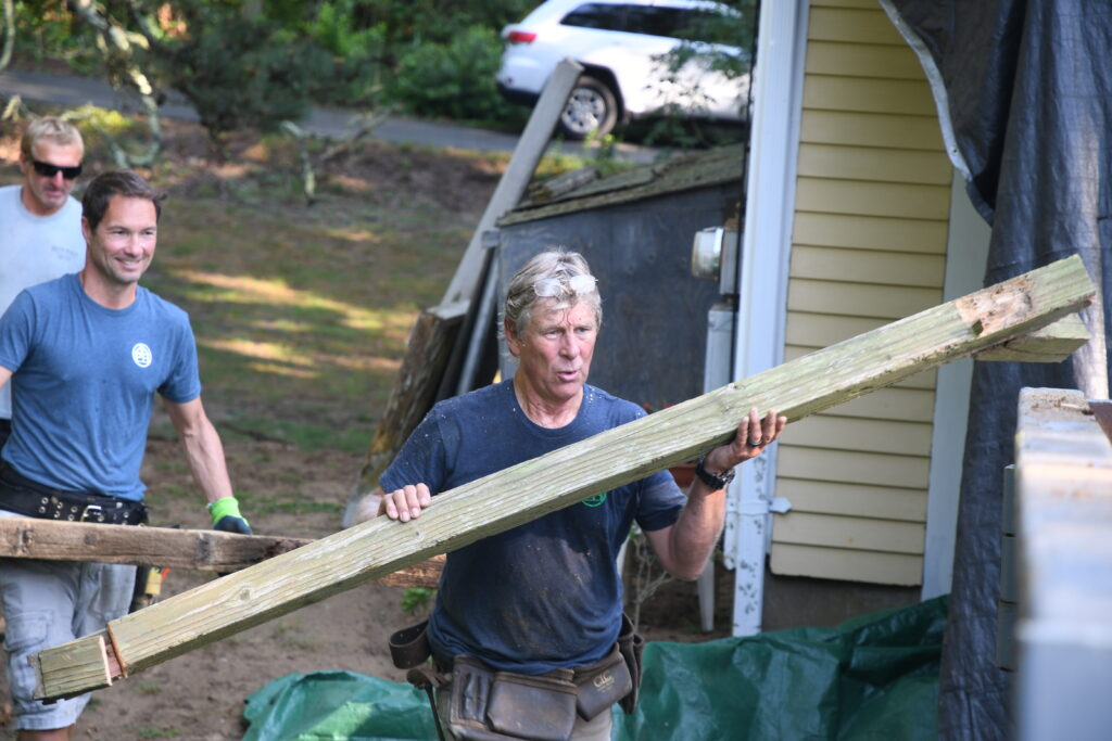 Mark Mathison and Brendan Parker volunteering at the 2021 Big Fix in Orleans.