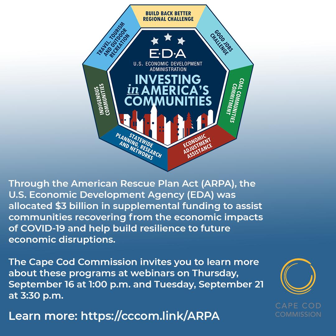 Cape Cod Commission ARPA Info Webinar Graphic