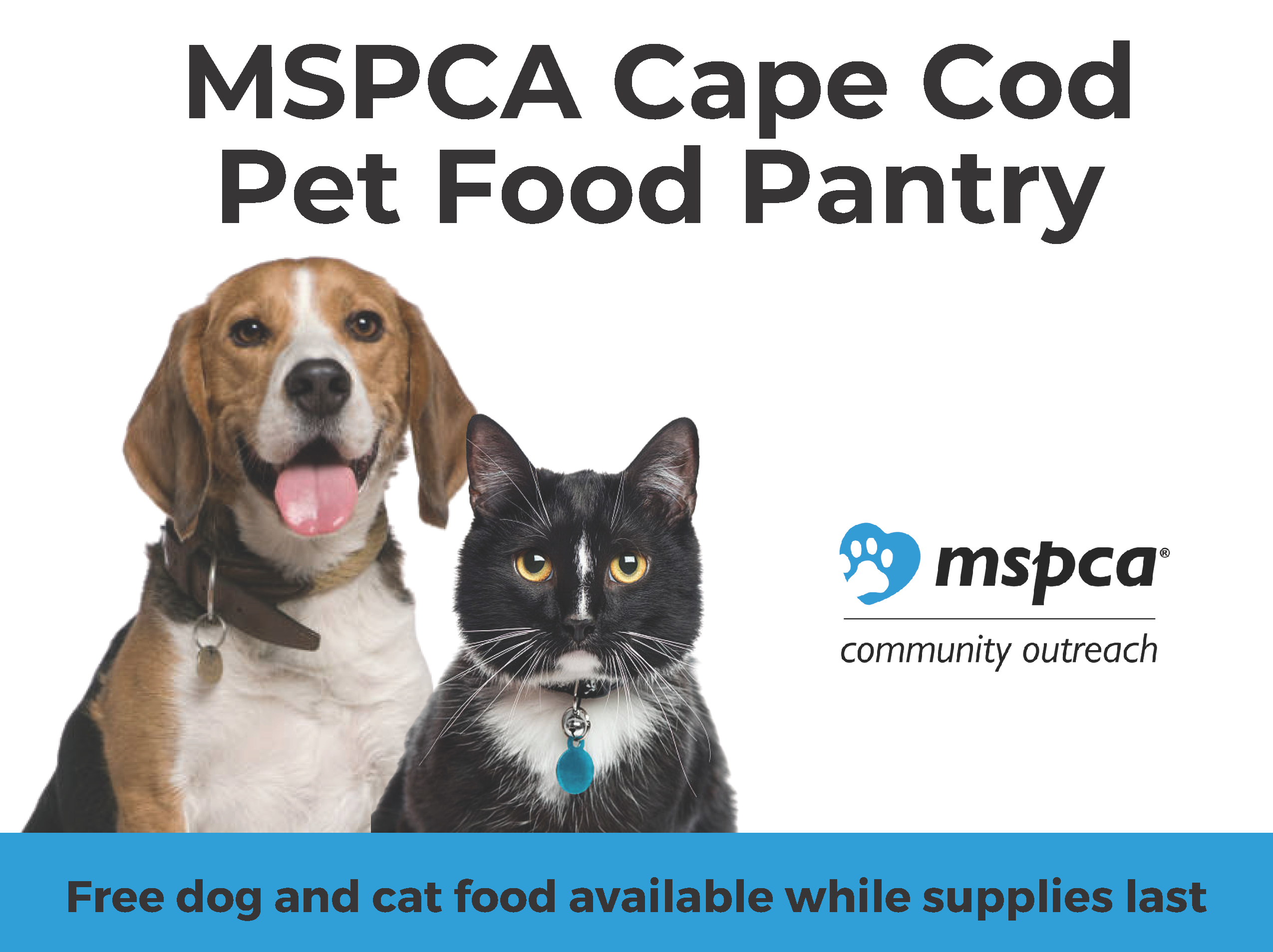 MSPCA Cape Cod Pet Food Pantry graphic