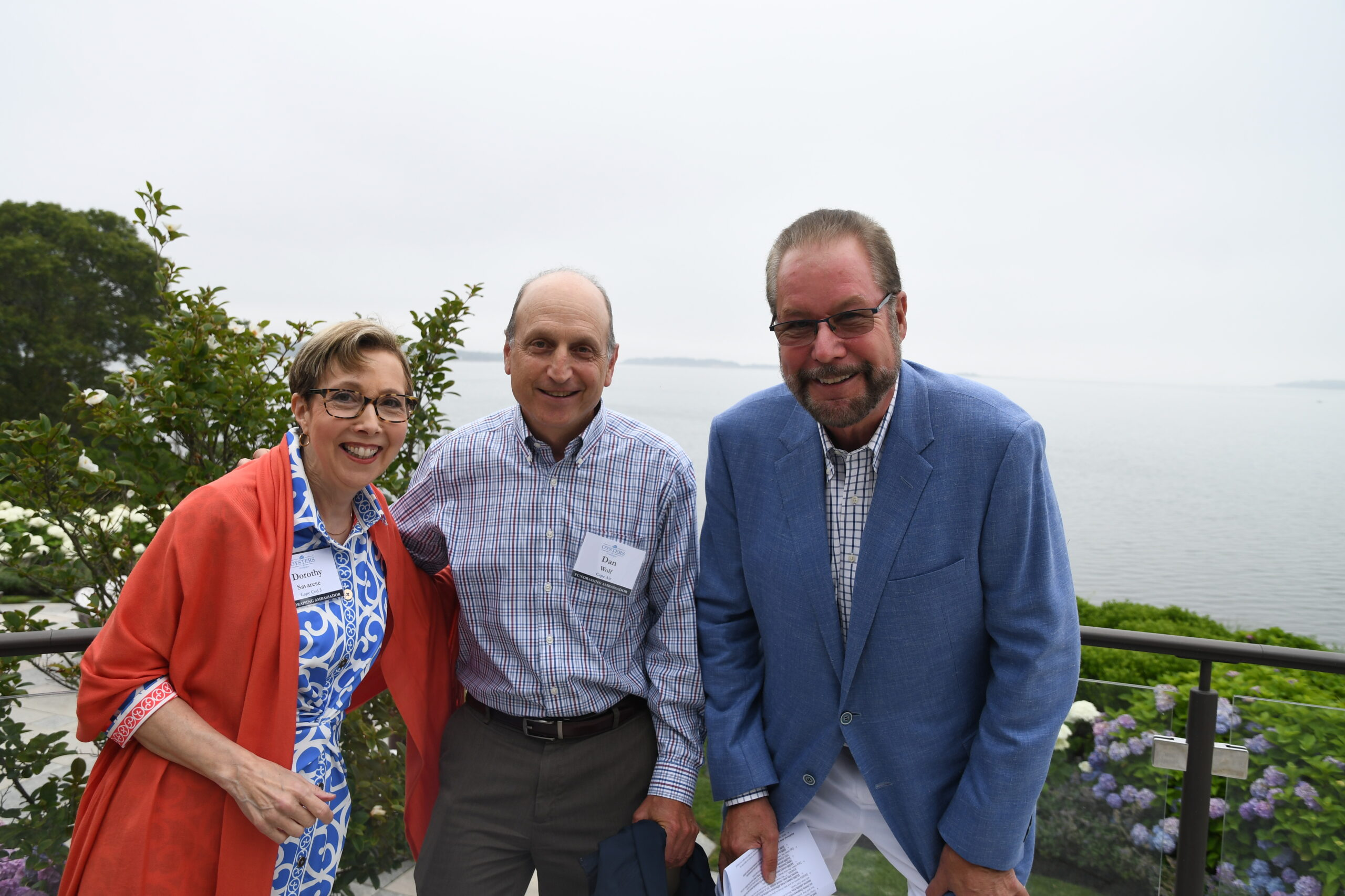 Dorothy Savarese, Dan Wolf, and Tony Shepley at Housing Assistance's Oysters & Champagne