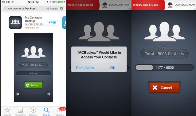 Use the Backup App