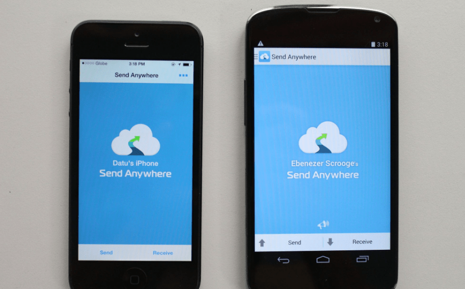Transfer images from iphone to android using app